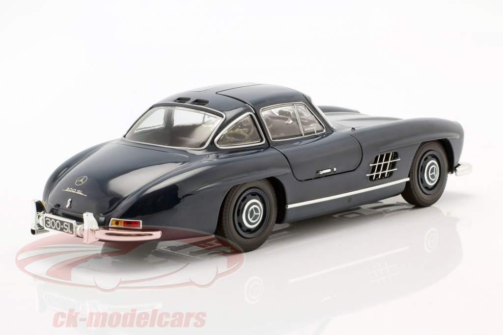 Mercedes-Benz 300 SL (W198) Gullwing Año de construcción 1955 azul oscuro 1:18 Minichamps