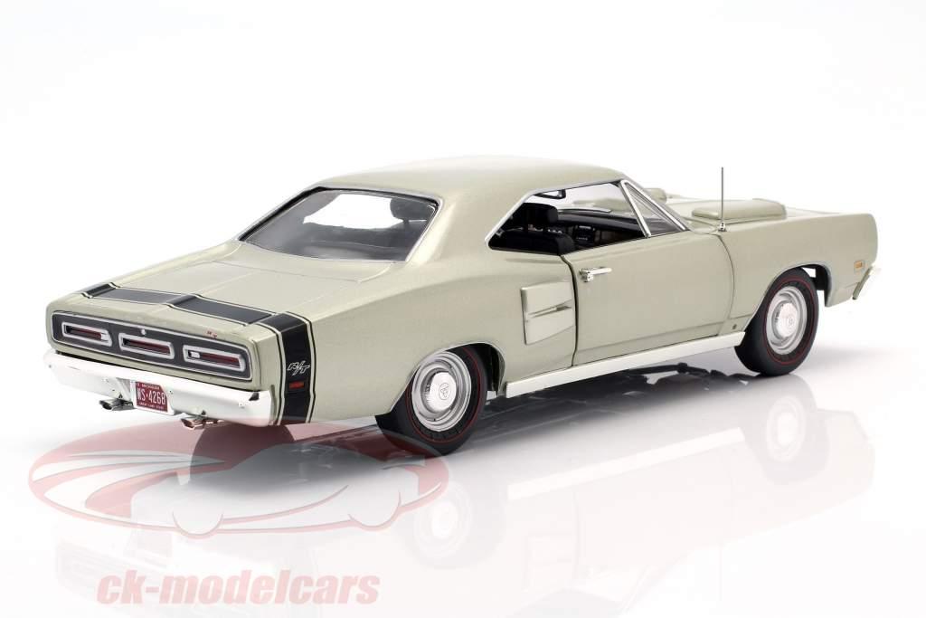 Dodge Coronet R/T Bouwjaar 1969 zilver groen metaalachtig 1:18 Autoworld