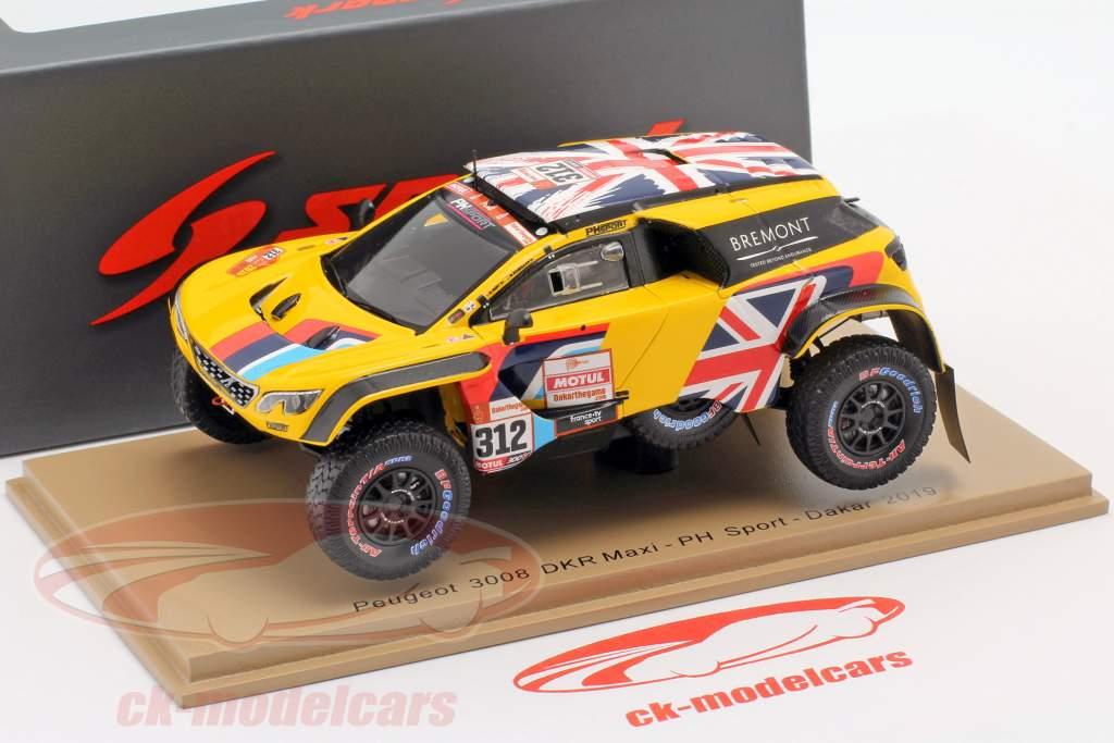 Peugeot 3008 DKR Maxi #312 Rallye Dakar 2019 Hunt, Rosegaar 1:43 Spark