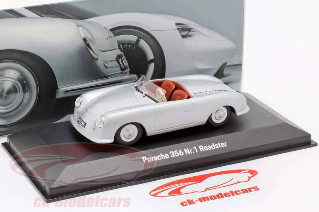 Porsche 356 Nr.1 Roadster 1948 70th Anniversary silver 1:43 Minichamps