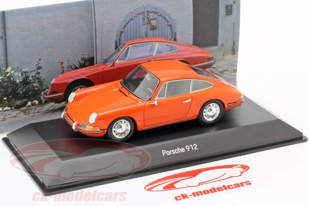 Porsche 912 Coupe Byggeår 1968 appelsin 1:43 Spark