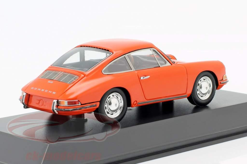 Porsche 912 Coupe year 1968 orange 1:43 Spark