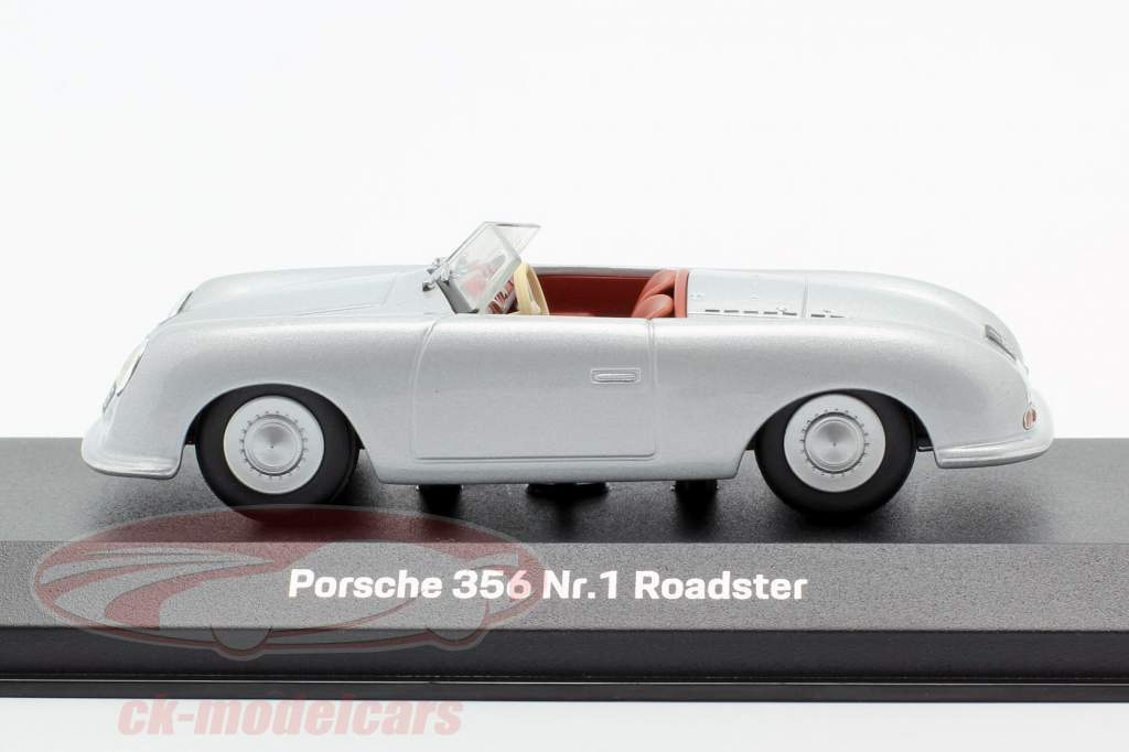 Porsche 356 Nr.1 Roadster 1948 70e Anniversaire argent 1:43 Minichamps
