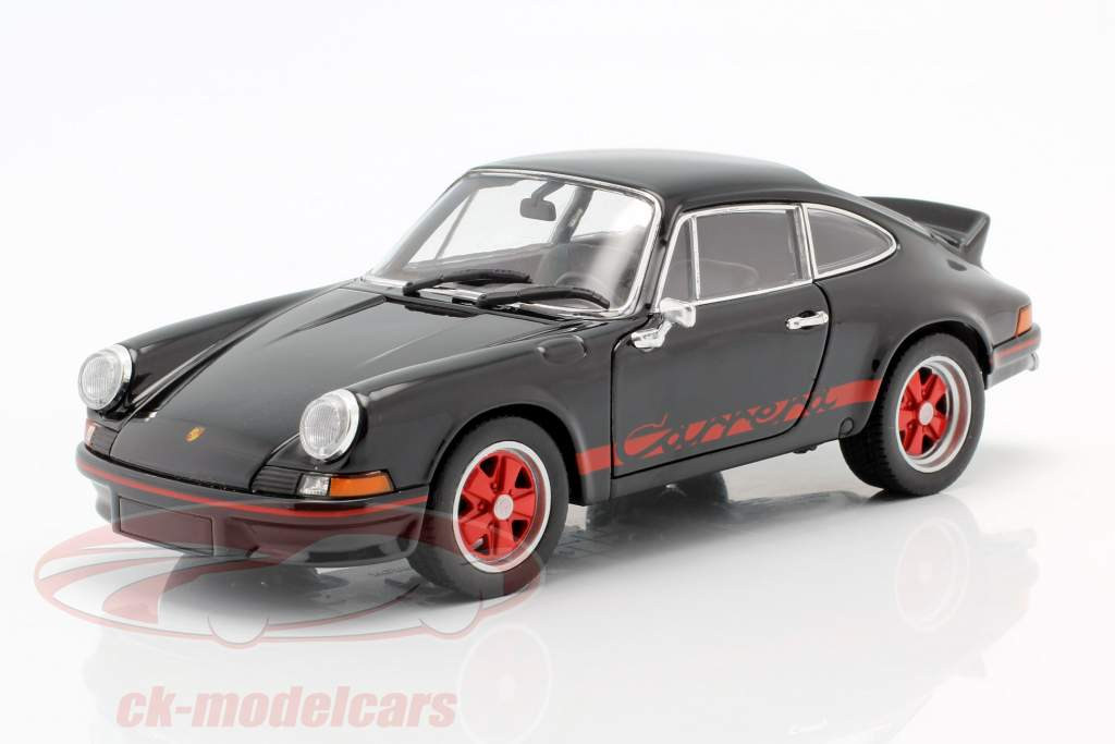 Porsche 911 Carrera RS Ano de construção 1973 preto / vermelho 1:24 Welly
