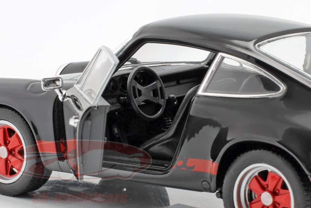 Porsche 911 Carrera RS year 1973 black / red 1:24 Welly