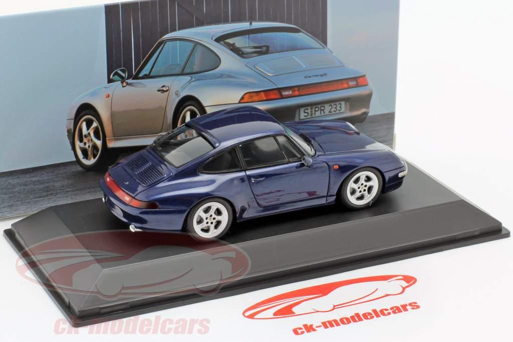Porsche 911 Carrera S (993) Año de construcción 1997 cenit azul metálico 1:43 Spark