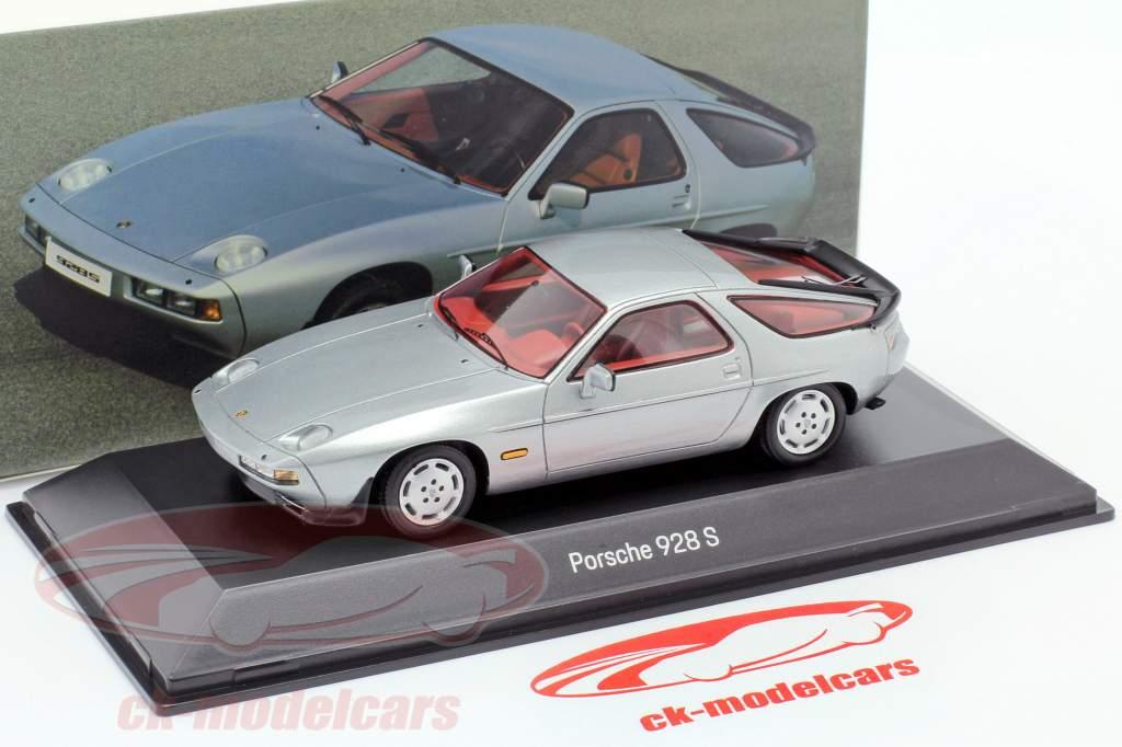 Porsche 928 S Byggeår 1980-1986 sølv 1:43 Spark