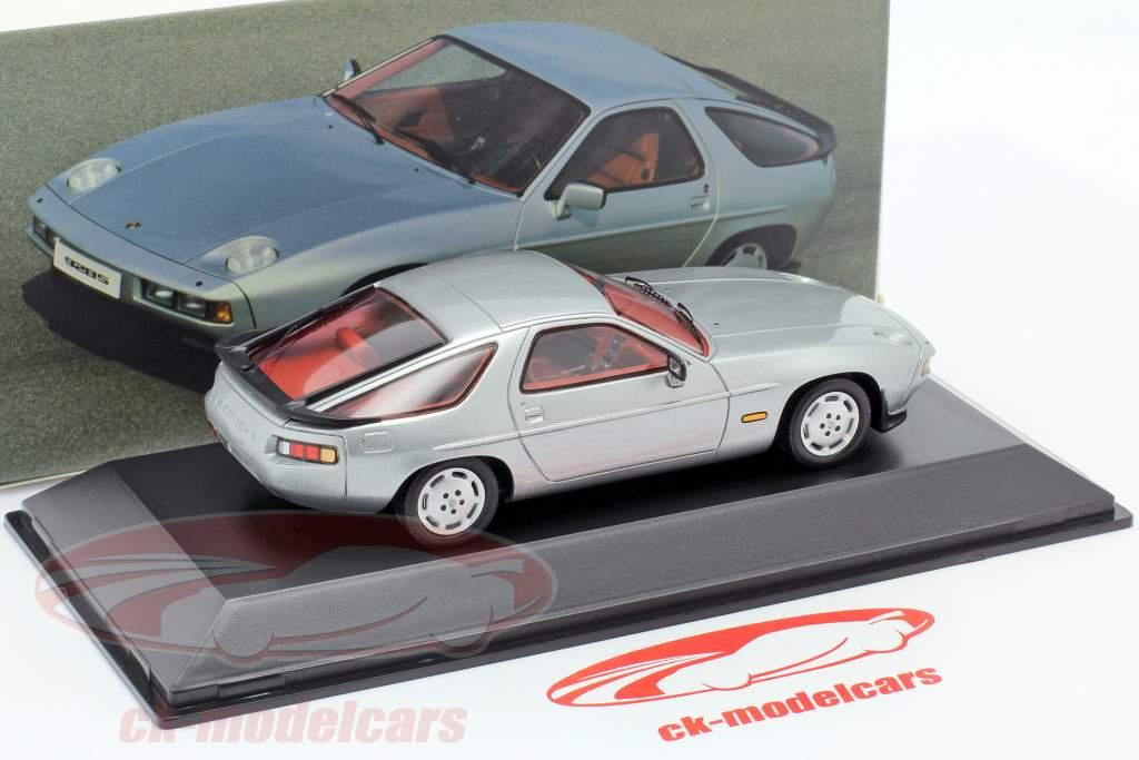 Porsche 928 S Bouwjaar 1980-1986 zilver 1:43 Spark