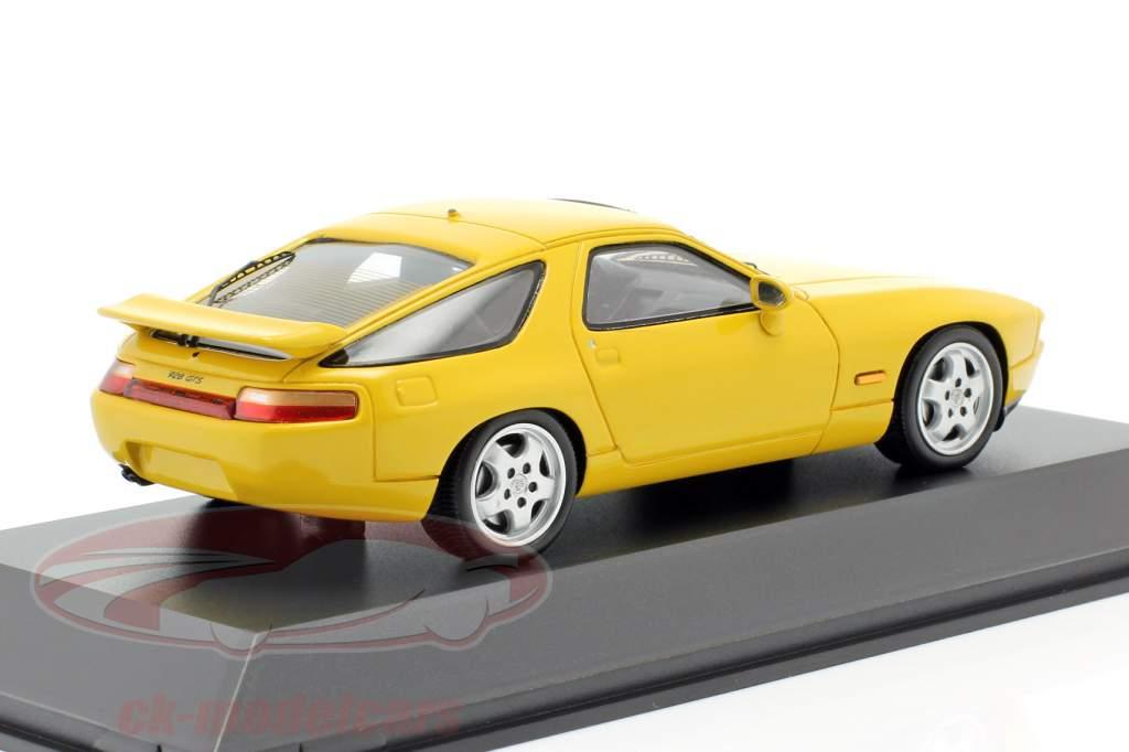 Porsche 928 GTS Bouwjaar 1992-1995 speed geel 1:43 Spark