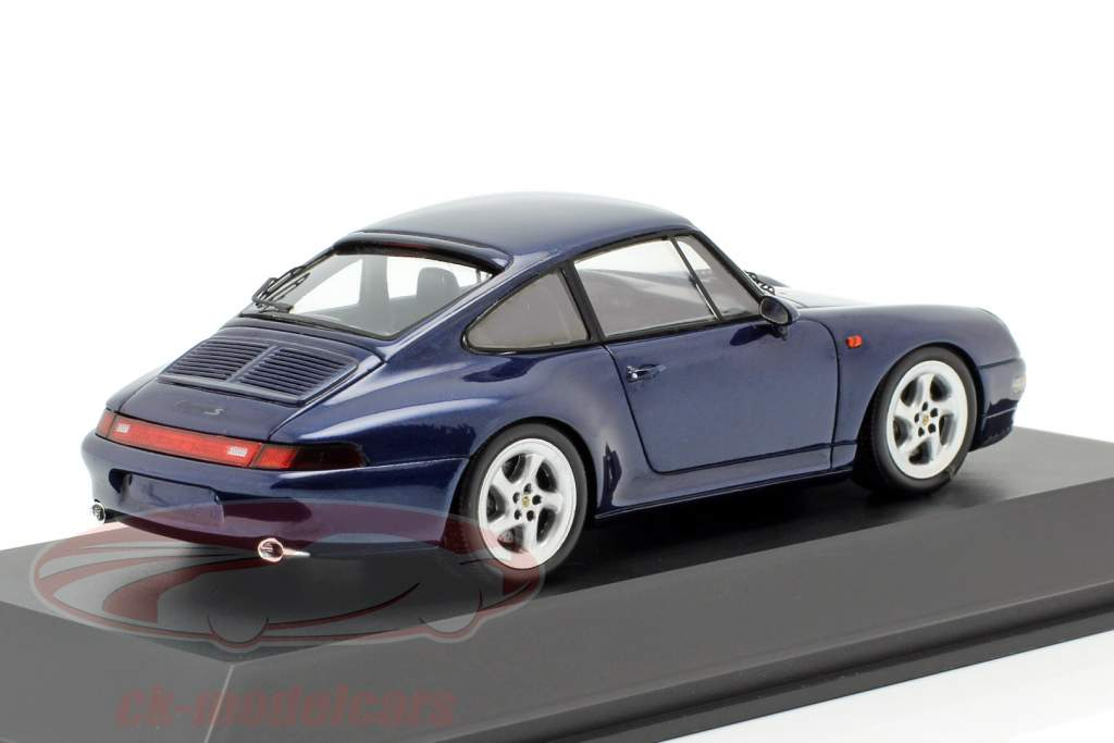Porsche 911 Carrera S (993) Baujahr 1997 zenithblau metallic 1:43 Spark