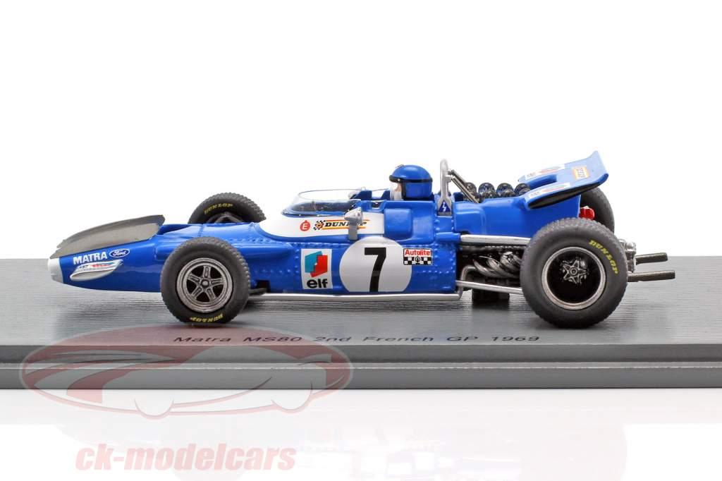 Jean-Pierre Beltoise Matra MS80 #7 2nd French GP formula 1 1969 1:43 Spark