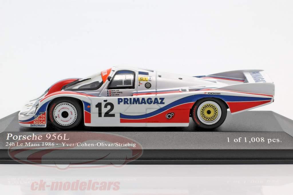 Porsche 956 #12 24h LeMans 1986 Yver, Striebig, Cohen-Olivar 1:43 Minichamps