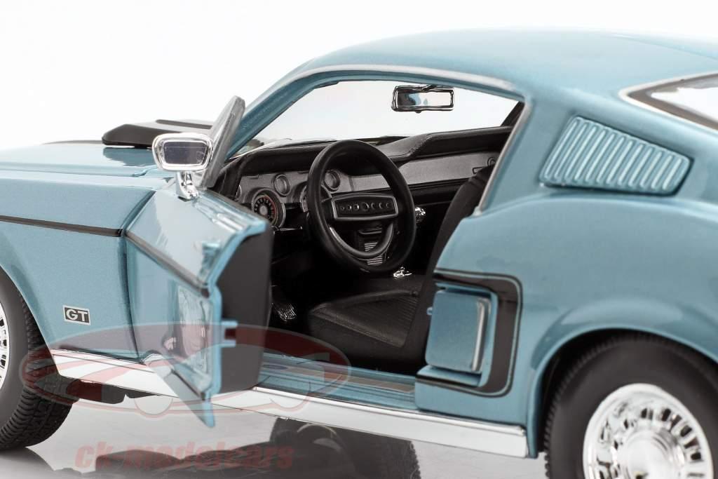 Ford Mustang GT Cobra Jet Anno 1968 blu metallizzato / nero 1:18 Maisto