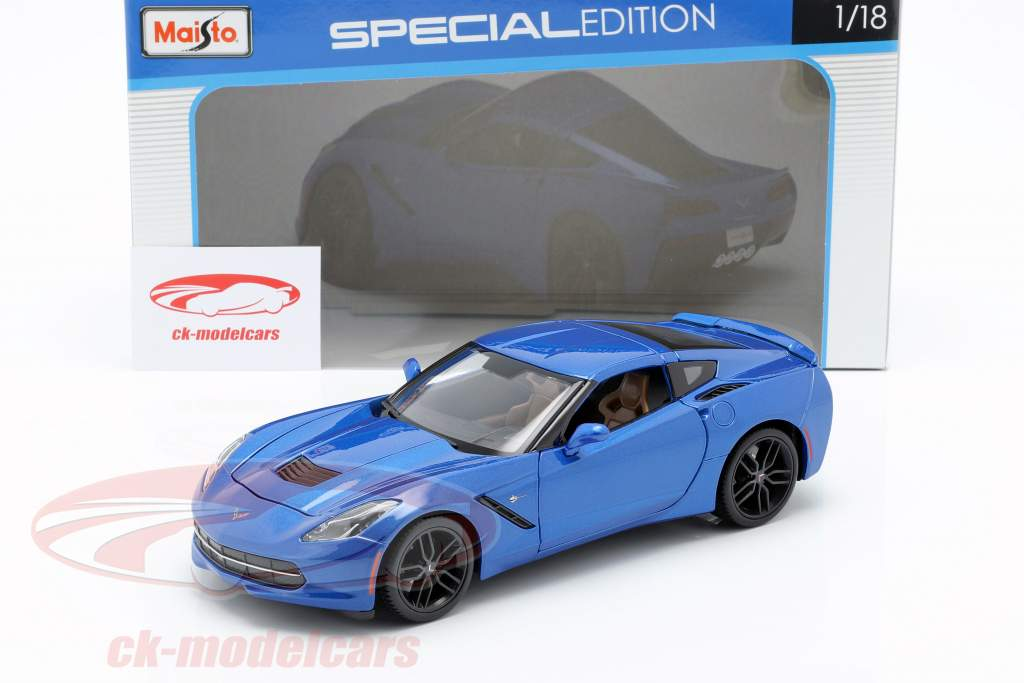 Chevrolet Corvette Stingray Z51 Anno 2014 blu 1:18 Maisto