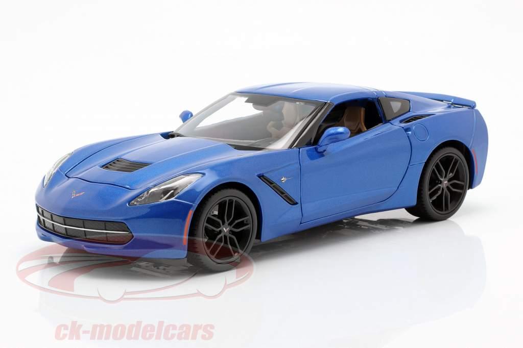 Chevrolet Corvette Stingray Z51 Ano 2014 azul 1:18 Maisto