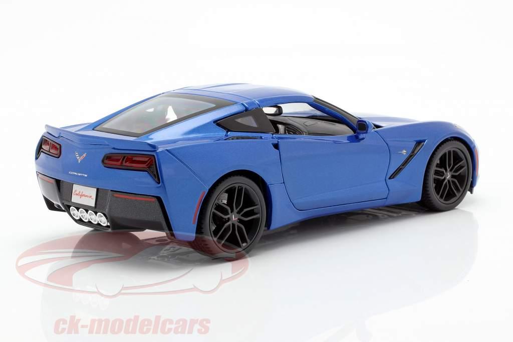 Chevrolet Corvette Stingray Z51 Baujahr 2014 blau 1:18 Maisto