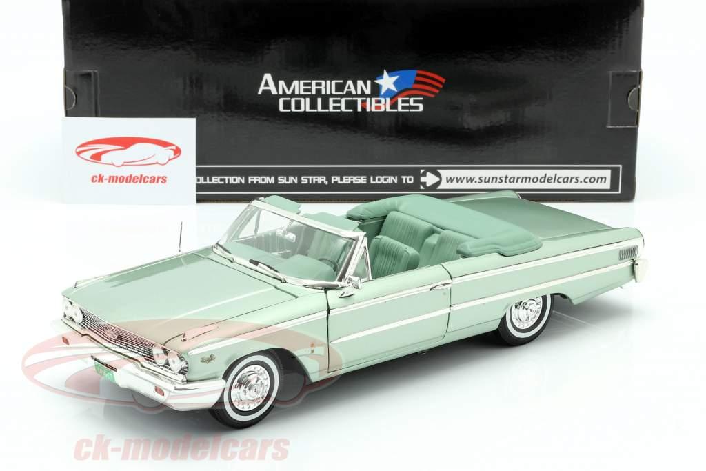 Ford Galaxie 500 XL Aberto Convertible 1963 verde musgo 1:18 SunStar