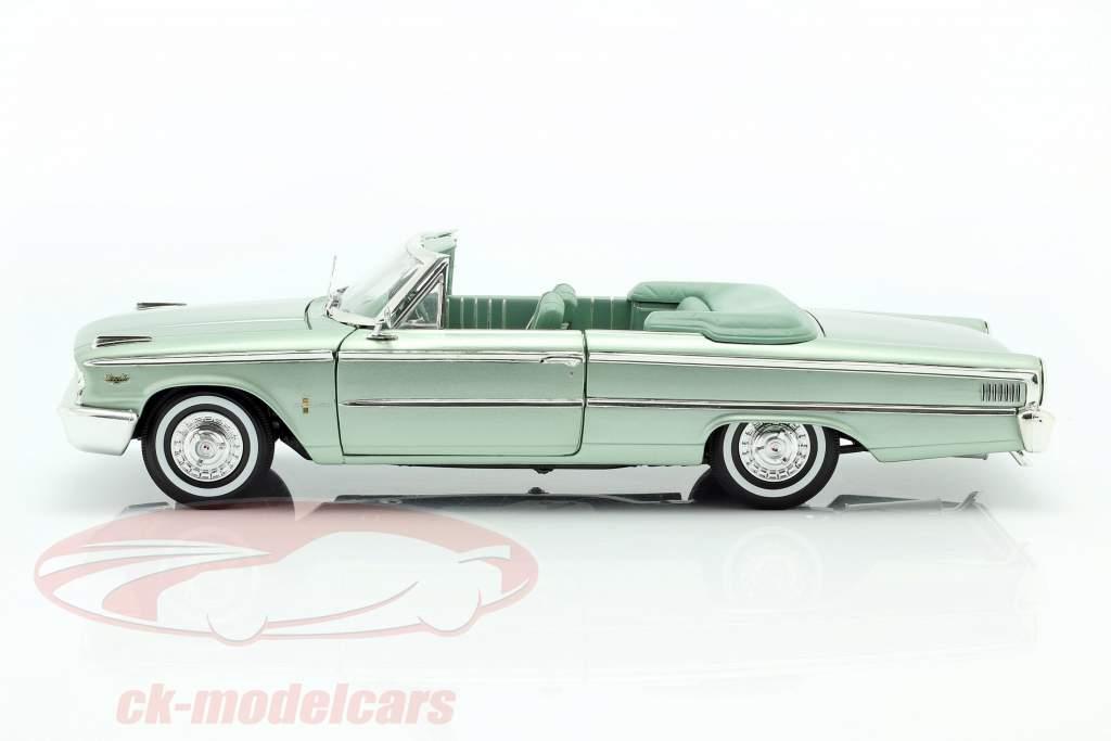 Ford Galaxie 500 XL Abierto Convertible 1963 verde musgo 1:18 SunStar
