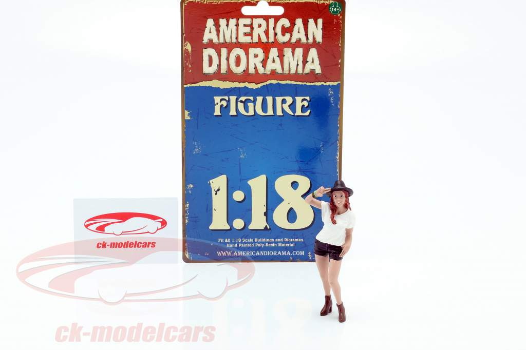 Partygängerin Figur #1 1:18 American Diorama