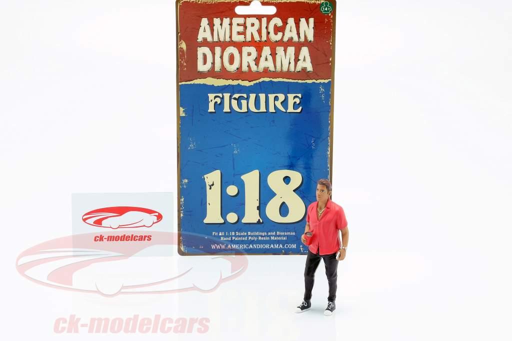 Partygoer Figure #6 1:18 American Diorama