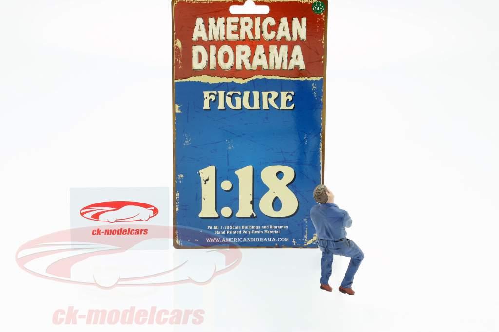sidder mekaniker figur #2 1:18 American Diorama