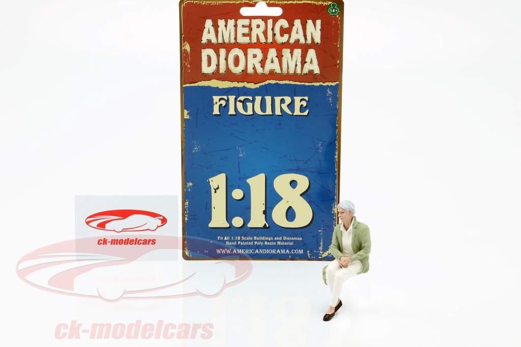 Zitten Oud Stel Figuur #2 1:18 American Diorama