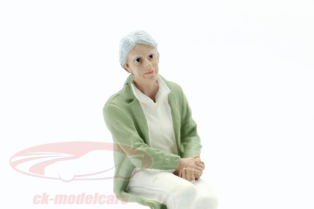 Sentado Viejo Pareja Figura #2 1:18 American Diorama