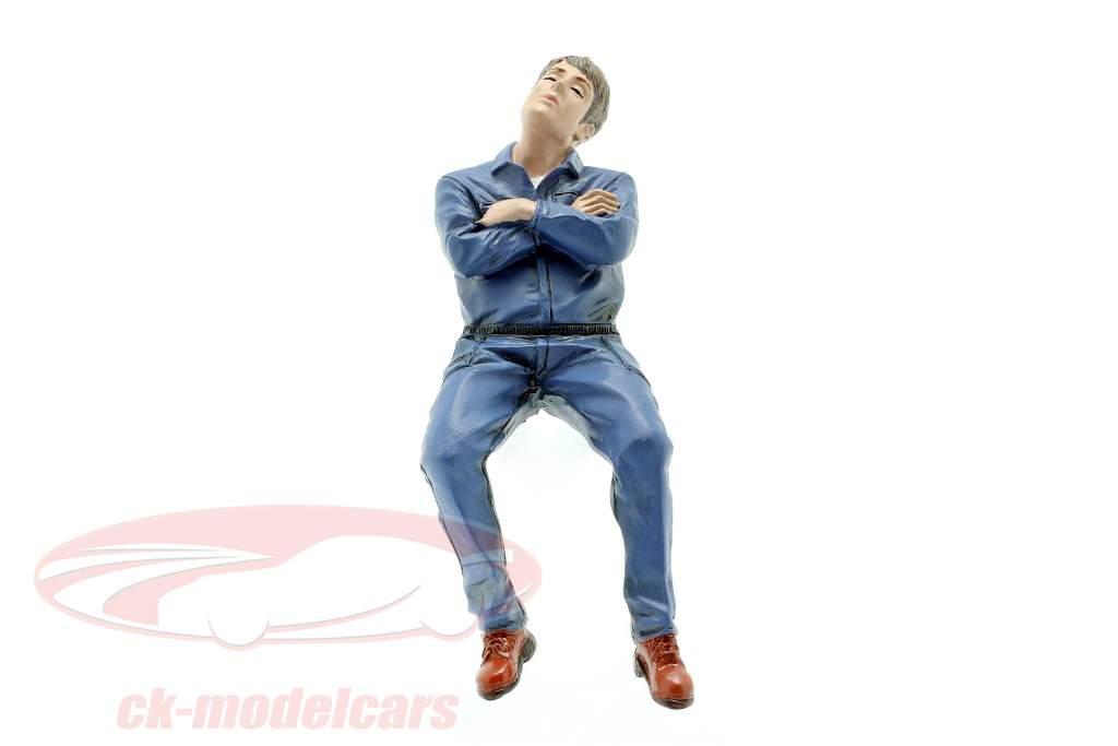 Assis Mécanicien La figure #2 1:18 American Diorama
