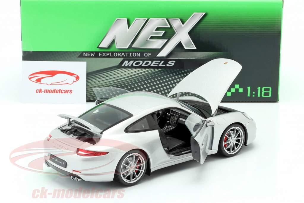 Porsche 911 (991) Carrera S Coupe argenterie 1:18 Welly
