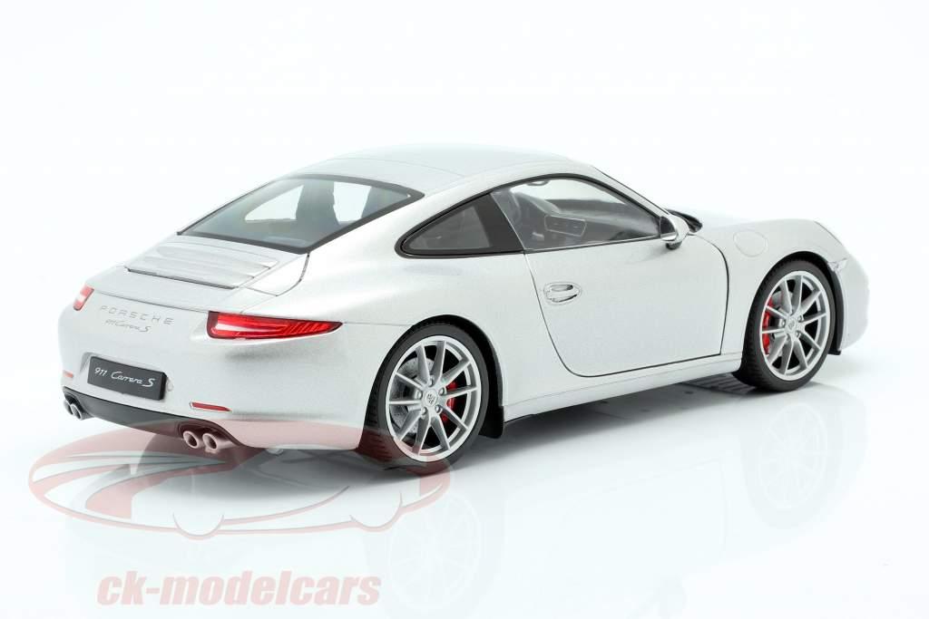 Porsche 911 (991) Carrera S Coupe silber 1:18 Welly