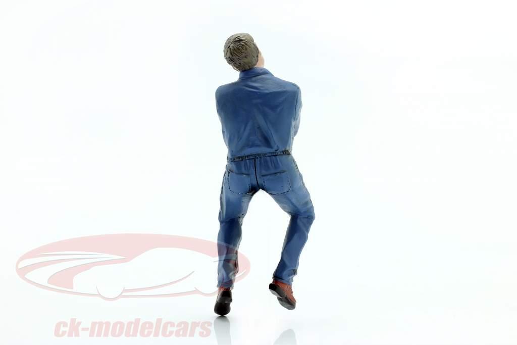 Sitzender Mechaniker Figur #2 1:18 American Diorama