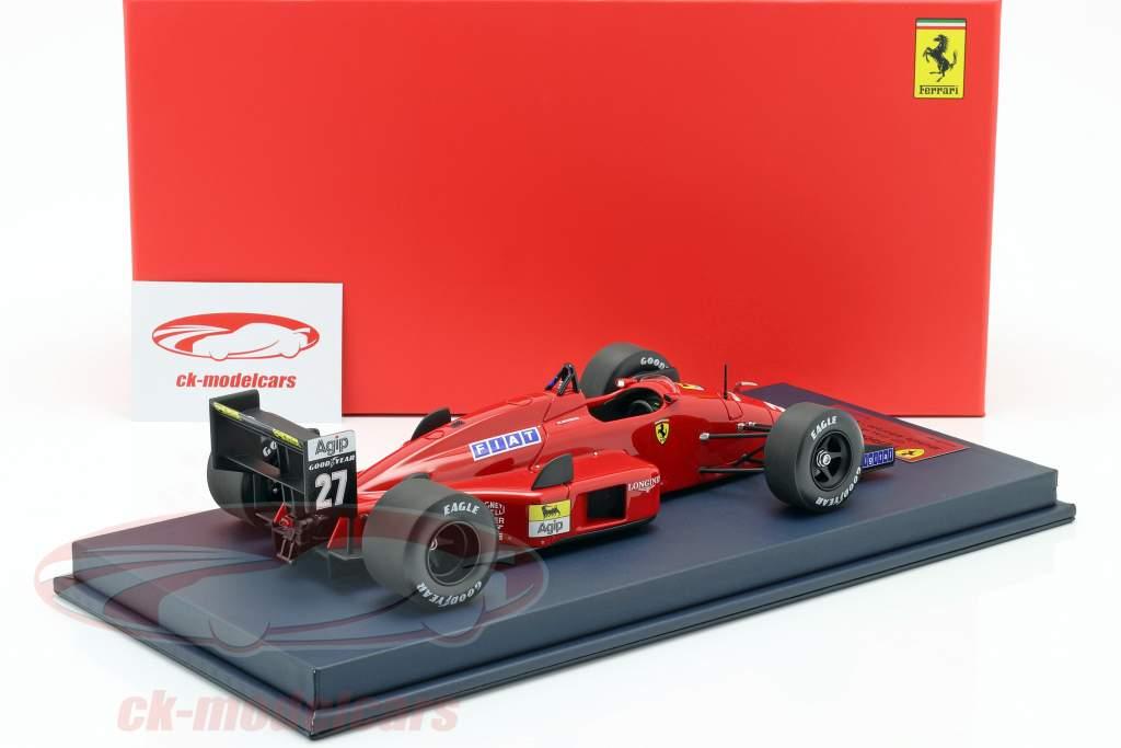 M. Alboreto Ferrari F1-87/88C #27 2nd italiensk GP F1 1988 med udstillingsvindue 1:18 LookSmart