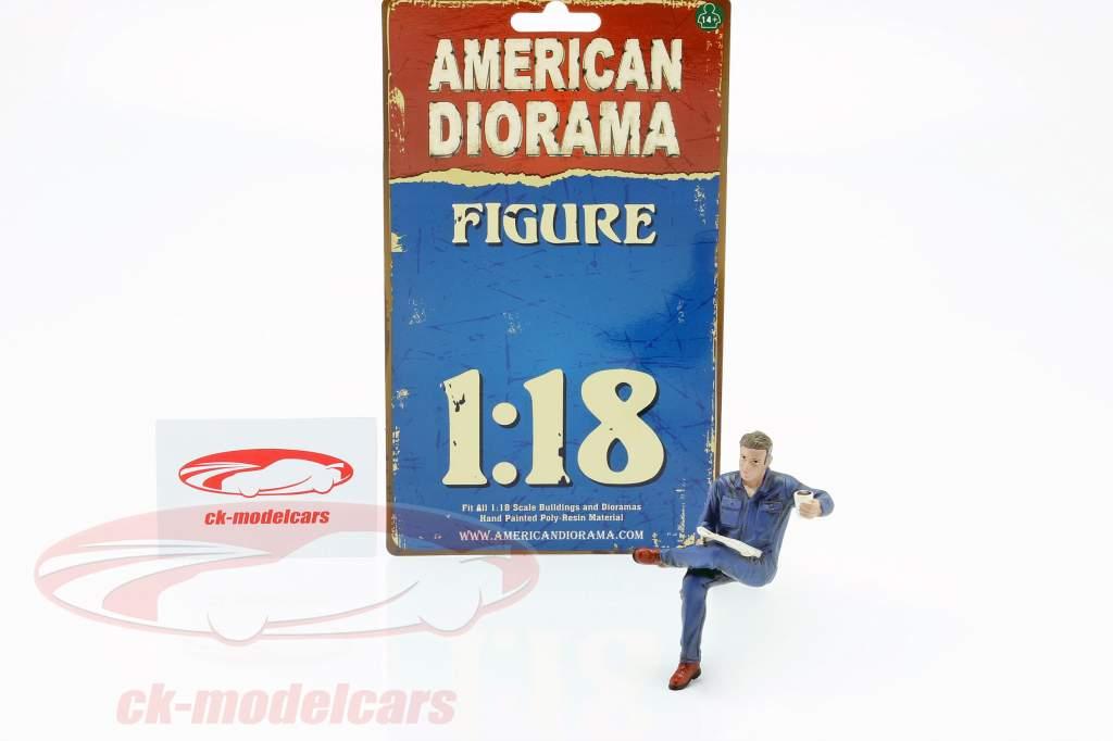 Sentado Mecânico Figura #1 1:18 American Diorama