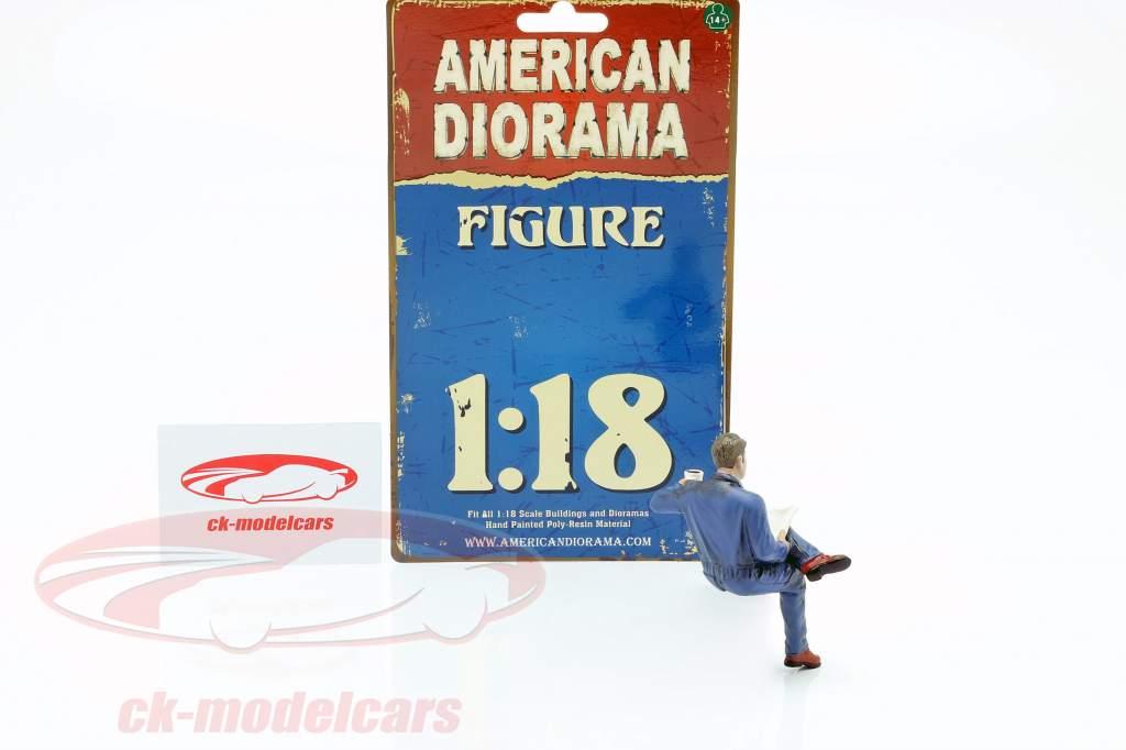 seduta meccanico cifra #1 1:18 American Diorama