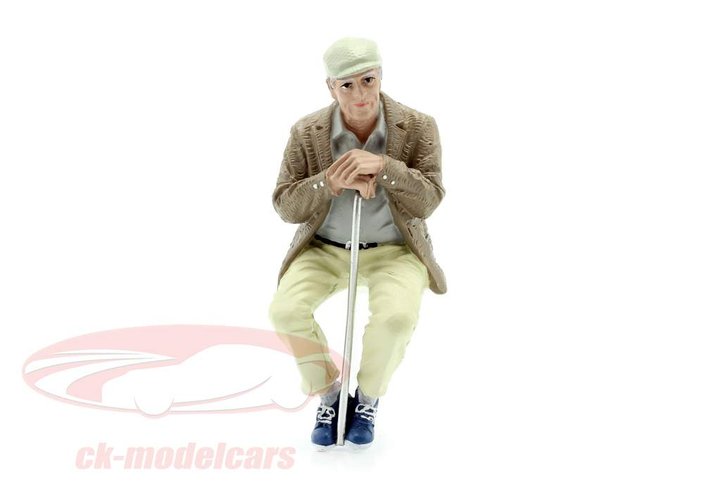 Sentado Viejo Pareja Figura #1 1:18 American Diorama