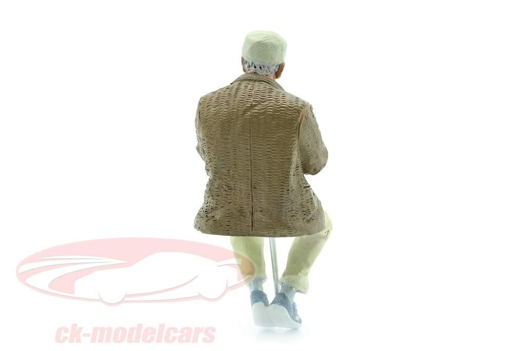 Sitzendes altes Paar Figur #1 1:18 American Diorama