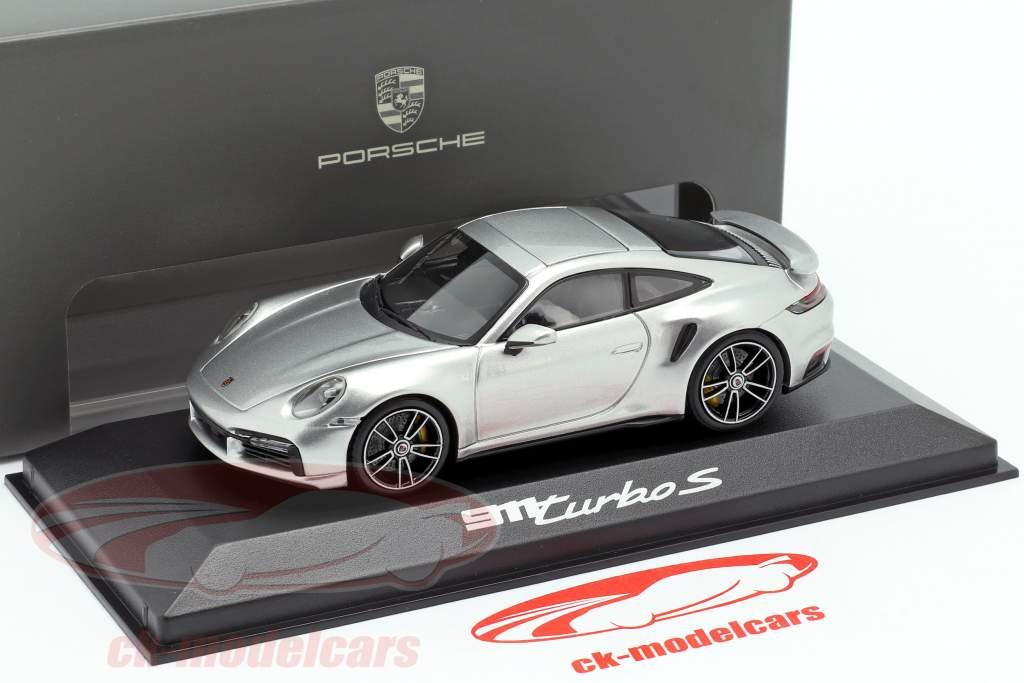 Porsche 911 (992) Turbo S 建设年份 2020 GT银 1:43 Minichamps
