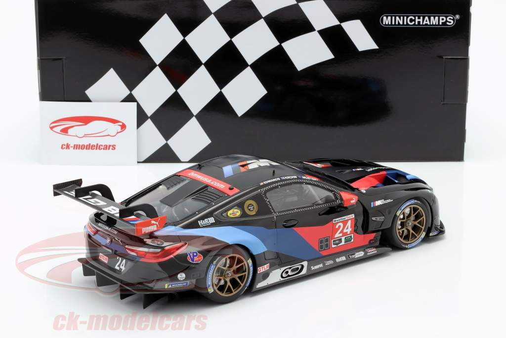 BMW M8 GTE #24 3rd in class Petit LeMans IMSA 2018 1:18 Minichamps