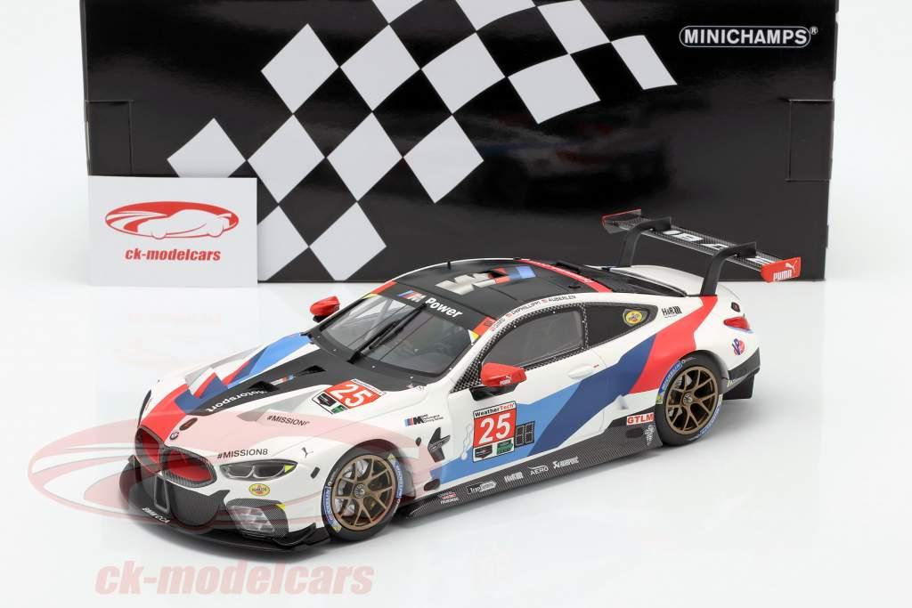 BMW M8 GTE #25 2nd in class Petit LeMans IMSA 2018 1:18 Minichamps