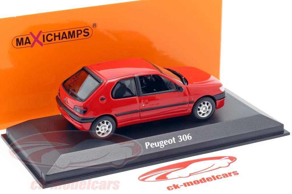 Peugeot 306 Año de construcción 1998 rojo 1:43 Minichamps
