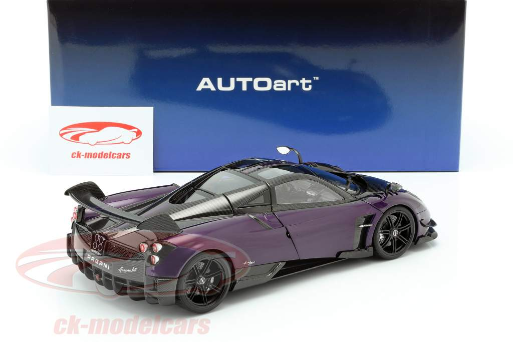 Pagani Huayra BC Byggeår 2016 violet / carboxylsyre 1:18 AUTOart