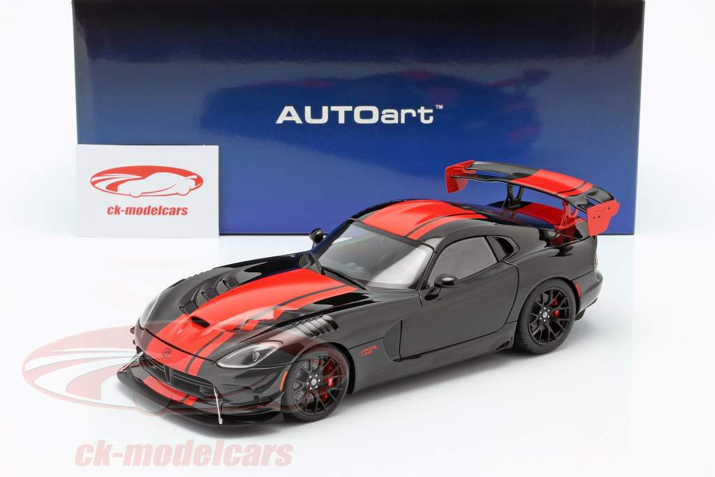 Dodge Viper ACR year 2017 black / red 1:18 AUTOart
