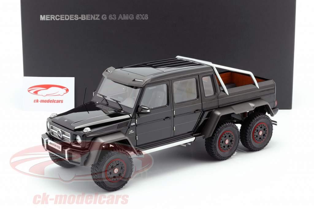 Mercedes-Benz G63 AMG 6x6 Año de construcción 2013 brillo negro 1:18 AUTOart