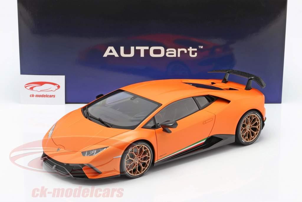 Lamborghini Huracan Performante Année de construction 2017 anthaeus orange 1:12 AUTOart