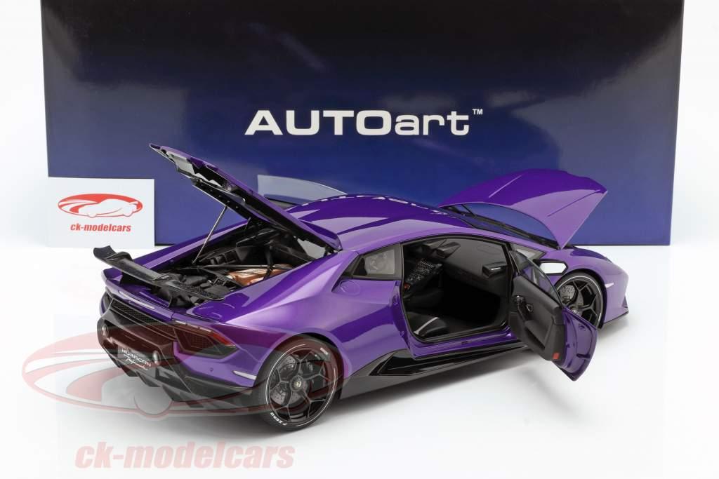 Lamborghini Huracan Performante Año de construcción 2017 perla morado 1:12 AUTOart