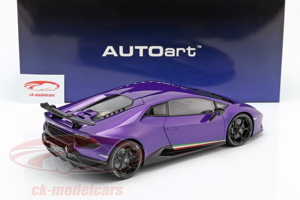 Lamborghini Huracan Performante year 2017 pearl purple 1:12 AUTOart