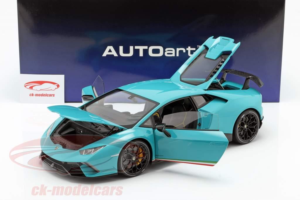 Lamborghini Huracan Performante year 2017 light blue 1:12 AUTOart