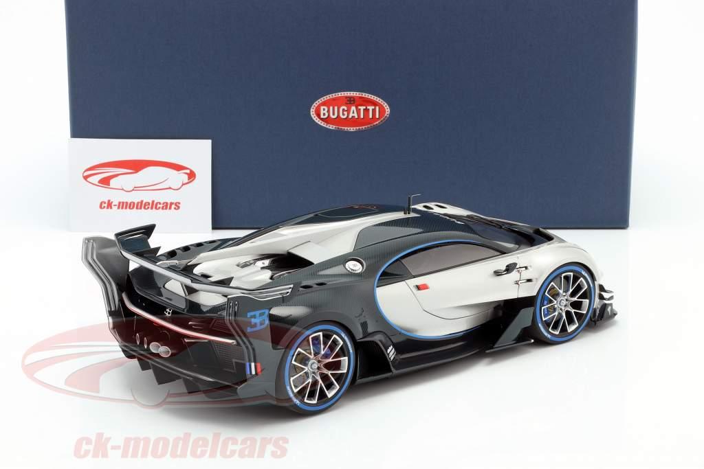 Bugatti Vision GT Anno di costruzione 2015 argento / carbossilico blu 1:18 AUTOart