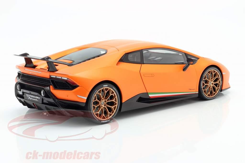 Lamborghini Huracan Performante Bouwjaar 2017 anthaeus oranje 1:12 AUTOart