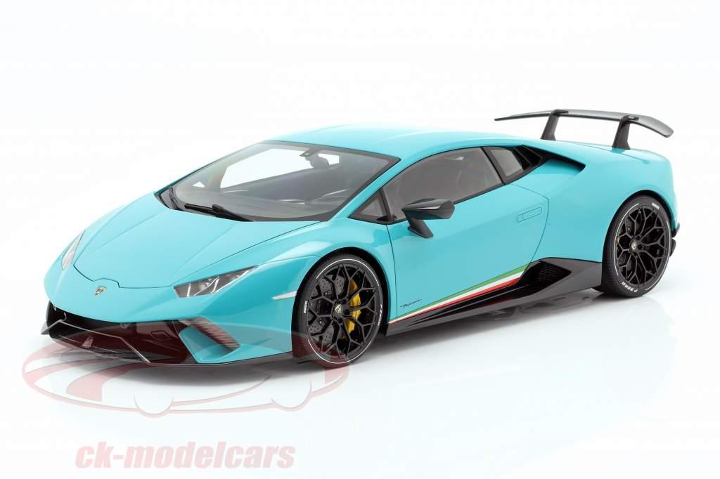 Lamborghini Huracan Performante Ano de construção 2017 luz azul 1:12 AUTOart